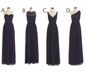 Long Bridesmaid Dress, Navy Blue Bridesmaid Dresses ...