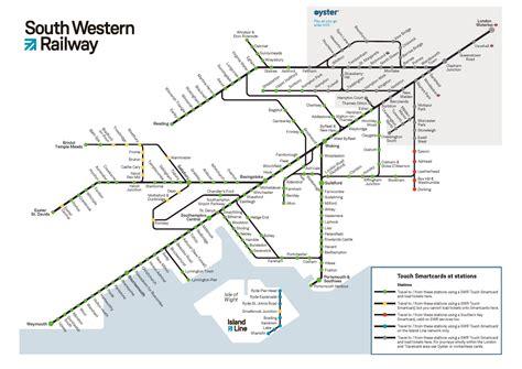 Southwestern Railway Map