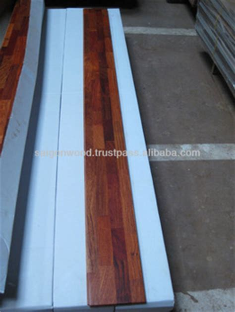 Finger Joint Laminate Padauk Rosewood Karin Wood Flooring