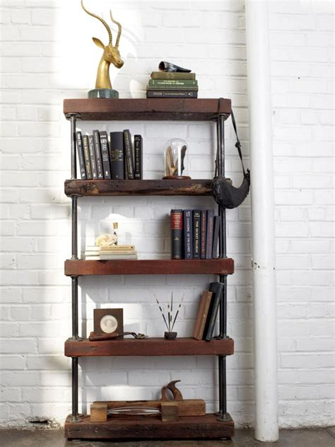 Vintage Industrial Bookcase by Vintage Industrial Bookcase Designs For Small Space