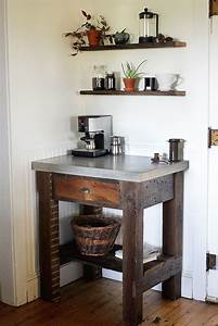 Diy, Concrete, Top, Coffee, Bar