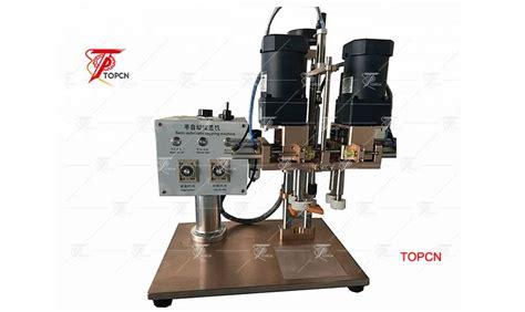 manufacture semi automatic plastic bottle cap twist  sealing capping machine