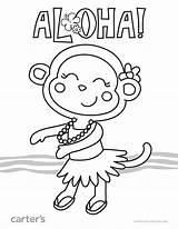 Coloring Luau Printable Worksheets Hawaiian Aloha Preschool Theme Sheets Hawaii Vacation Crafts Printables Colouring Take Pdf sketch template