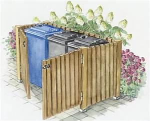 Mülltonnenverkleidung Selber Bauen : sichtschutz f r m lltonnen gartengestaltung vorgarten ~ Watch28wear.com Haus und Dekorationen
