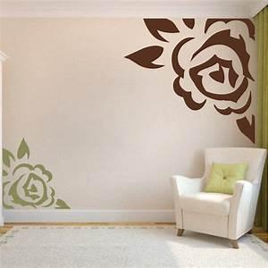 Corner rose vinyl wall art design trendy designs