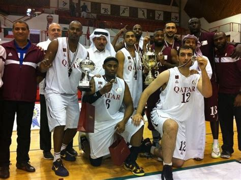 qatar wins gcc  basketball championship title