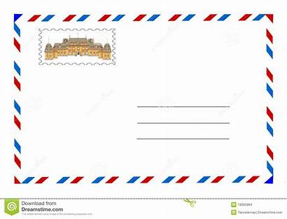 Envelope Stamp Postage Vector Illustration Dreamstime
