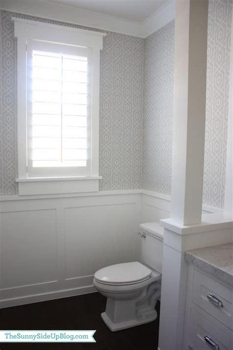 Powder Room Wainscoting  Transitional  Bathroom Sunny