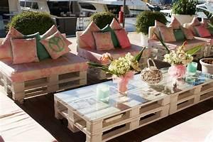 awesome salon de jardin en palette facile pictures With chambre bébé design avec faire livrer des fleurs en suisse