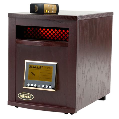 infrared heat l sunheat sh 1500rc bc black cherry infrared heater with