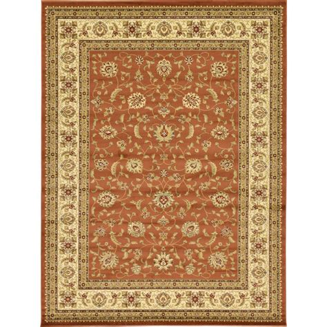 unique area rugs unique loom agra brick 10 ft x 13 ft area rug