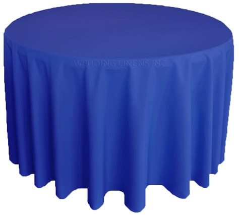 royal blue table linens royal blue polyester tablecloths 108 quot round table covers