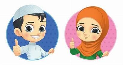 Muslim Kartun Gambar Perempuan Anak Laki Buku