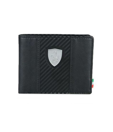 puma mens black ferrari wallet buy    price