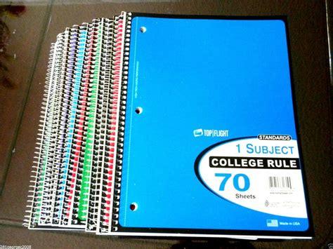 Akhwat Spiral Notebook lot of 10 standards spiral notebook 1 subject 70 sheets
