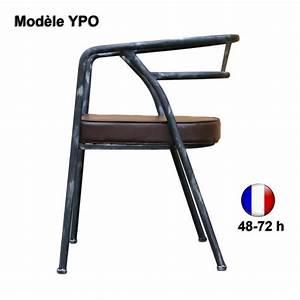 Fauteuil Cuir Design : chaise ypo fauteuil m tal simili cuir design style ~ Melissatoandfro.com Idées de Décoration