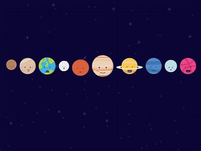 Dribbble Planet Uranus Hello Landing Saturn Jupiter