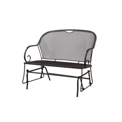 hton bay vera patio glider hd14604 the home depot