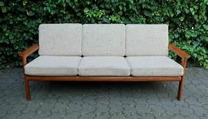 Mid Century Möbel : mid century teak sofa mit textilbezug von komfort m bel bei pamono kaufen ~ Sanjose-hotels-ca.com Haus und Dekorationen
