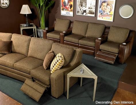 Media Room Furniture by Tips For Creating A Media Room Big Or Small