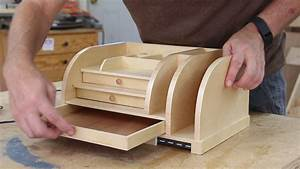 Desk Organizer with Charging Station Woodworking for