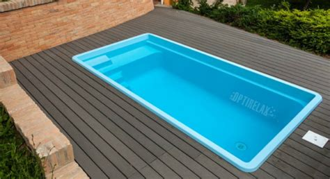 Pool Mit Terrasse by Gfk Keramik Pool Aq K45 Fuer Terrasse Optirelax