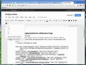 hanging indents google docs youtube With google docs add indent