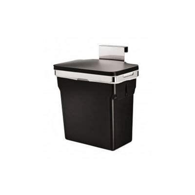 poubelle cuisine porte poubelle de porte 10 l simplehuman castorama