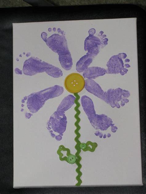 baby footprint flower infant activities pinterest