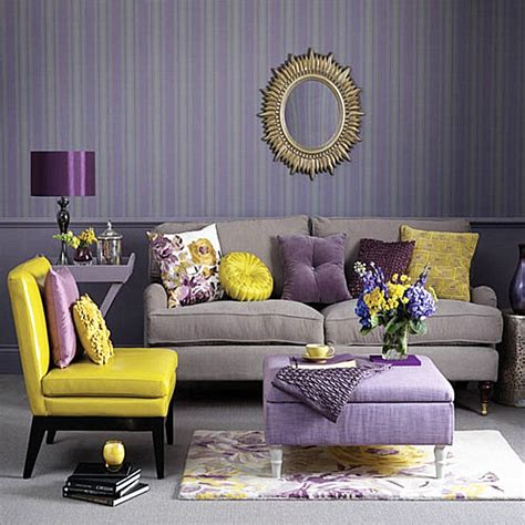 Yellow Grey And Purple Living Room by Yellow Purple And Grey Living Room