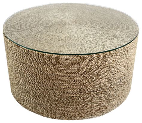 round seagrass coffee table round seagrass table beach style coffee tables