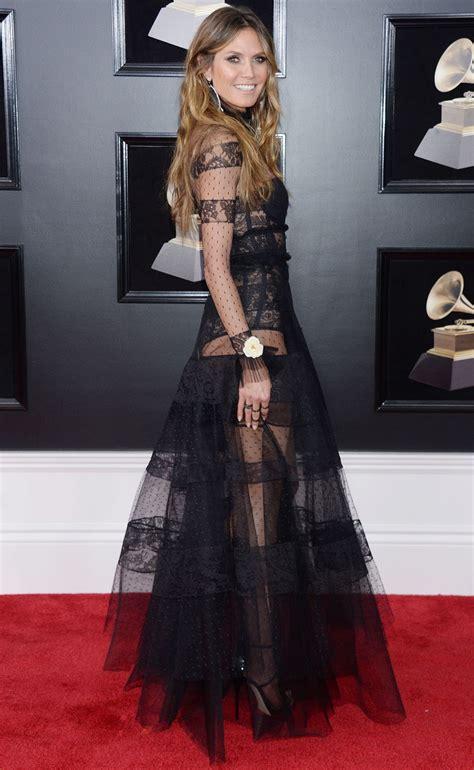 Heidi Klum Bares Lingerie The Grammy Awards