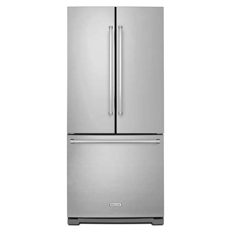 kitchenaid 30 in w 19 7 cu ft french door refrigerator