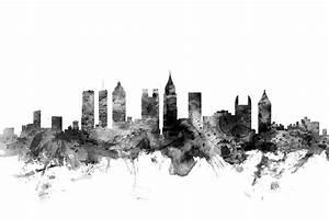 Atlanta Georgia Skyline Digital Art by Michael Tompsett