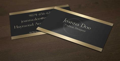 Black And Gold Fashion Designer Business Card Template By