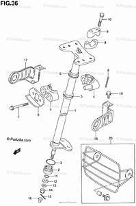 Suzuki Atv 2000 Oem Parts Diagram For Steering Shaft