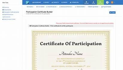 Certificate Participation Builder Conference Certificates Presenting Generate