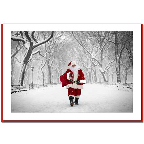 santa on poet walk central park new york ny christmas