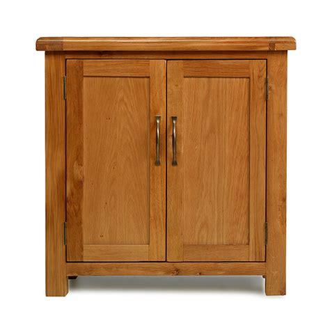 Rushden Solid Oak Furniture Small Petite Cabinet Storage