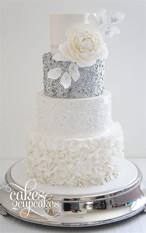 silver wedding cake decorations wedding ideas  colour