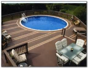 above ground oval pool deck designs decks home