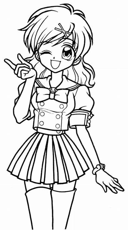 Mermaid Anime Melody Manga Colorare Coloring Amiche
