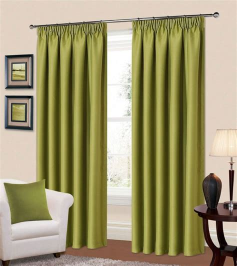 plain green colour thermal blackout readymade bedroom