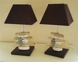Fabriquer Une Lampe De Chevet : lampes de chevet en bois flott la belle au bois flotte ~ Zukunftsfamilie.com Idées de Décoration