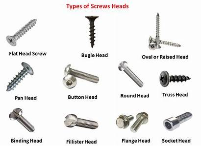 Screws Types Heads Different Mechanical