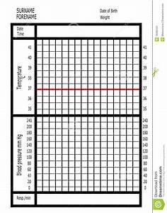 Medical Observation Chart Stock Illustration Illustration