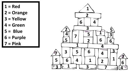Coloring Numberblocks by Block Number 4 Page Coloring Pages