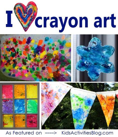 kids activities blog reports  wax crayon art