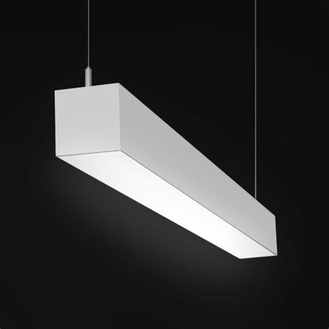 alcon lighting 12100 44 p ww continuum 44 series architectural led linear pendant mount wall