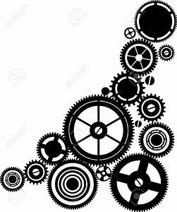 Mechanical clipart clock gear - Pencil and in color ...